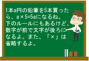 文字の式7